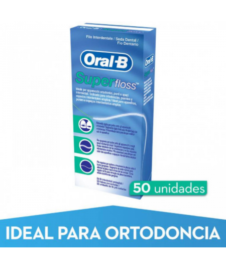 ORAL-B SEDA DENTAL SUPERFLOSS 50 M