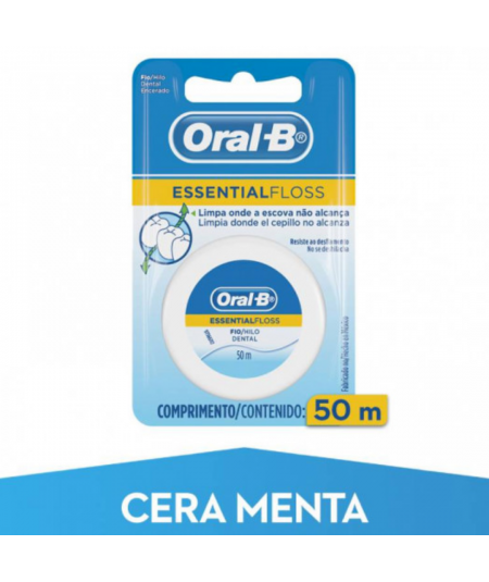 ORAL-B ESSENTIAL FLOSS FLUOR MENTA 50 M
