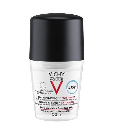 Vichy Homme Desodorante Antitranspirante Antimanchas 48h 50ml