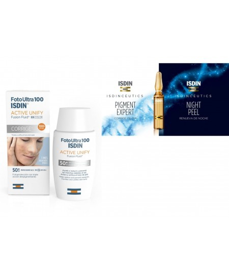 ISDIN PACK LIVE YOUNG FOTOULTRA100 + AMPOLLAS PIGMENTEXPERT