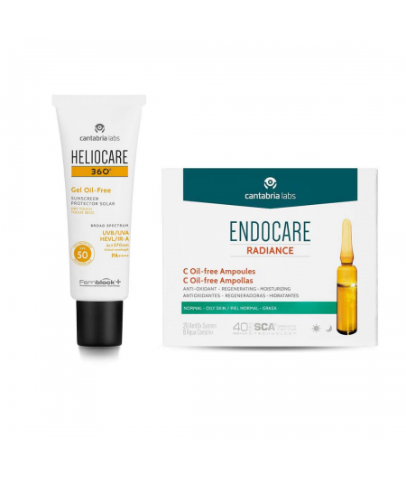 Heliocare neceser gel oil free ampollas radiance