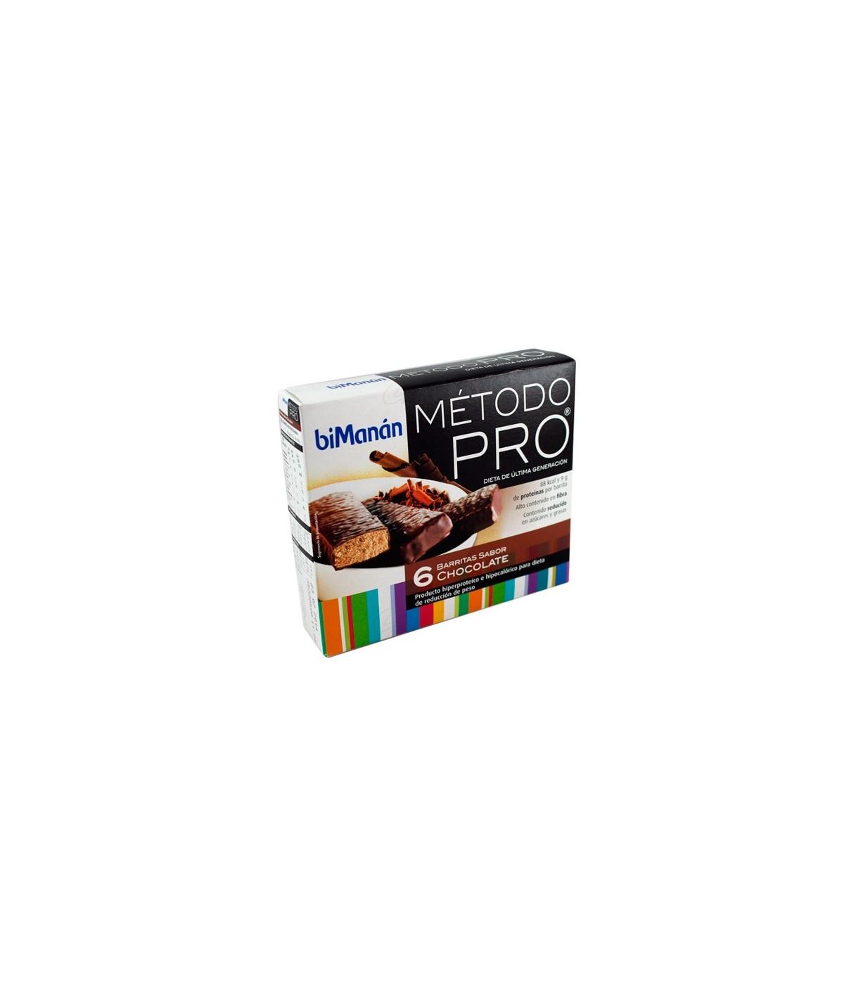 BIMANAN METODO PRO BARRITA CHOCOLATE 6 BARRITAS